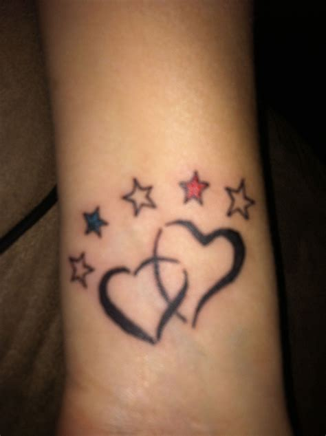 little star tattoos wrist my wrist our hearts joined together by our faith
