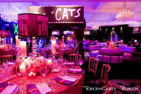 broadway themed decorations broadway themed at national golf club