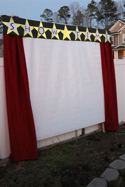 movie themed curtains 25 best ideas about outdoor movie party on pinterest