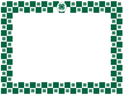 4 h thank you card template 4 h clover border 4 h graphics posts