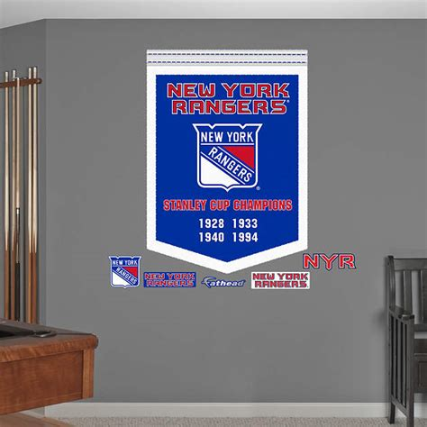 chionship banner template new york rangers stanley cup chions banner wall decal