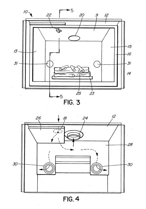 patent us20120090596 der for direct vent fireplace