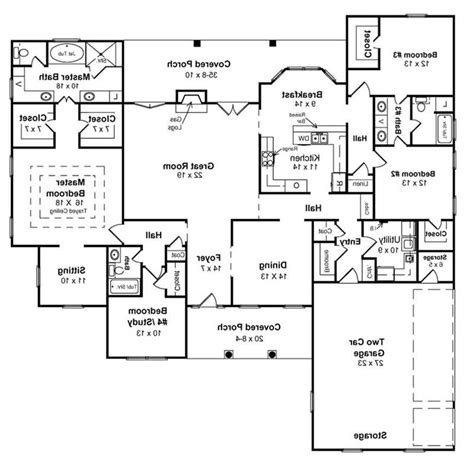 ranch style floor plans with basement ranch house floor plans with walkout basement best of