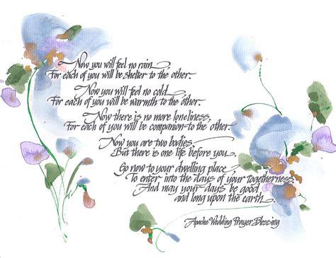 Wedding Blessing And Prayers by Apache Wedding Prayer Blessing By Darlene Flood