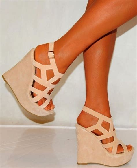 Pretty Heels For Summer by Beautiful Color Wedges Fashion Shoes
