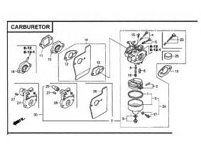 Honda Gcv160 Parts List Carburetor Diagram Parts List For Model Gcv160laos3a