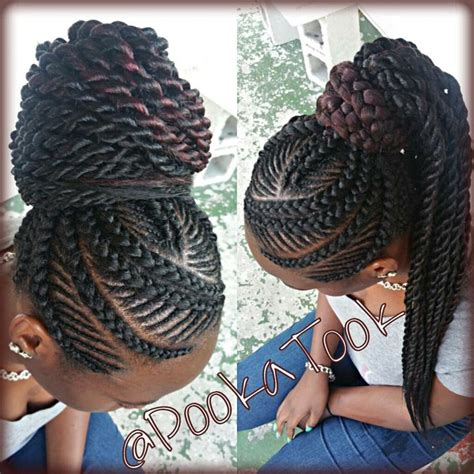 one big braids big and small braid mix i just love this style