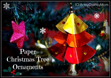 diy paper christmas tree ornaments artsy craftsy mom