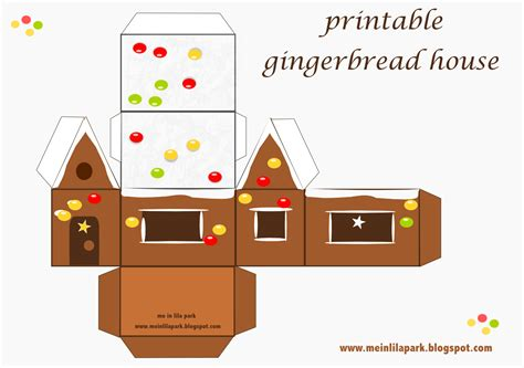 printable paper gingerbread house patterns free printable gingerbread house ausdruckbares