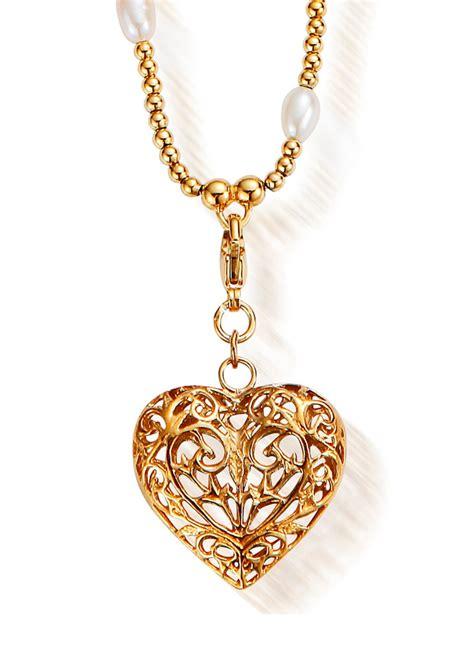 chlobo gold pearl small filigree pendant