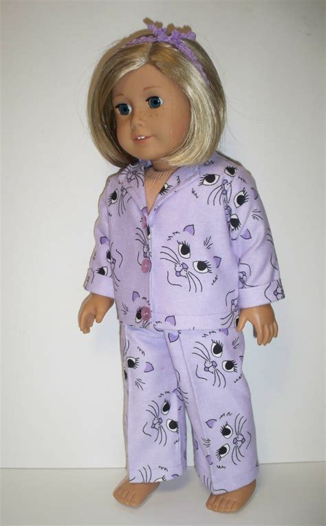 girls clothing etsy cute cat face pajamas american girl doll clothes