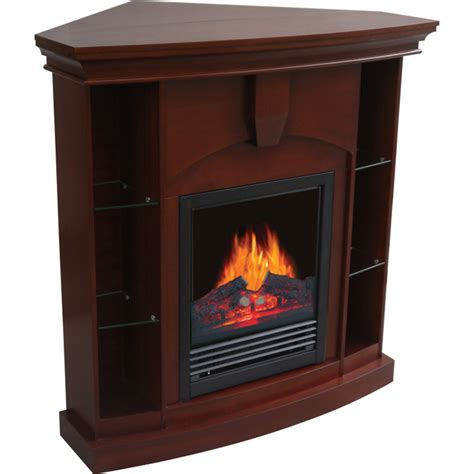 corner electric fireplaces clearance product stonegate electric corner fireplace with shelves