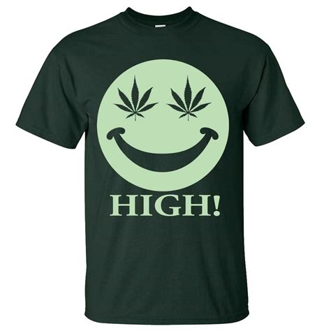 Tshirt Robotic Glow In The glow in the stoner smiley asst colors t shirt