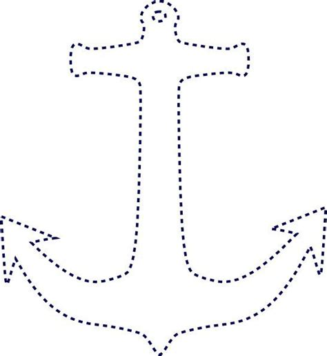 printable art patterns anchor outline image stiched anchor clip art string