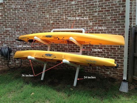 Outdoor Kayak Storage Racks by The 25 Best Ideas About Kayak Storage On