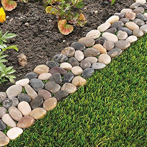 decorative border with loose hanging strips codycross pack of 8 garden flower bed edging strip pebble stone