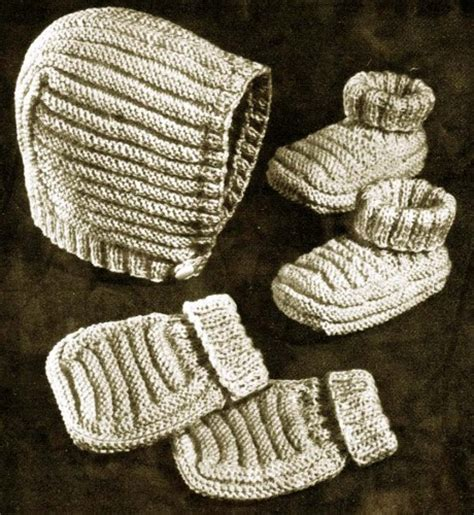 easy toddler mitten knitting pattern easy to knit baby cap booties mittens vintage knitting