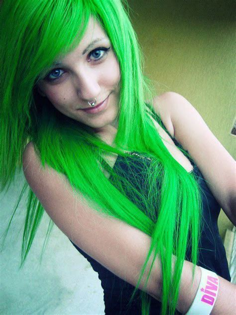 hair colors for green green hair color ideas that just might work