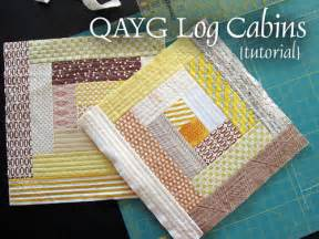 stitched in color qayg log cabins tutorial blogged at stitched in color