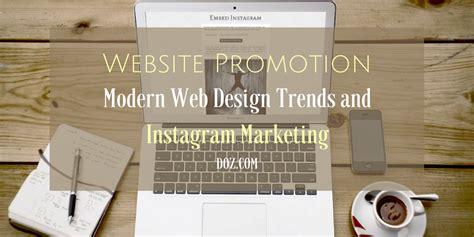 instagram design trends website promotion modern web design trends and instagram