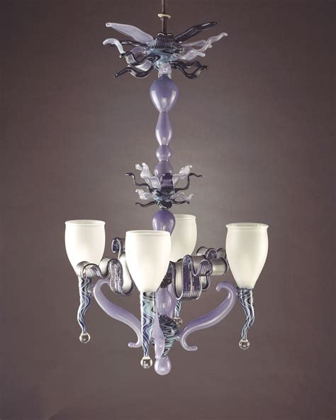 Cool Chandeliers Chandelier Custom Glass Tumbled Unique