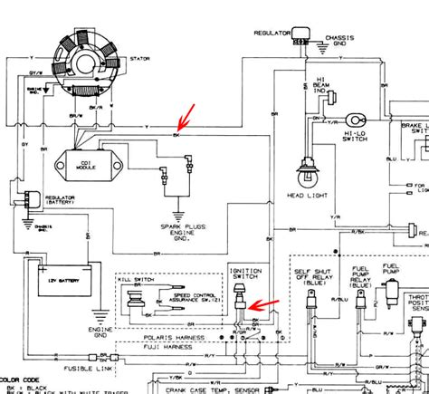 9 best images of polaris 500 ho wiring diagram polaris