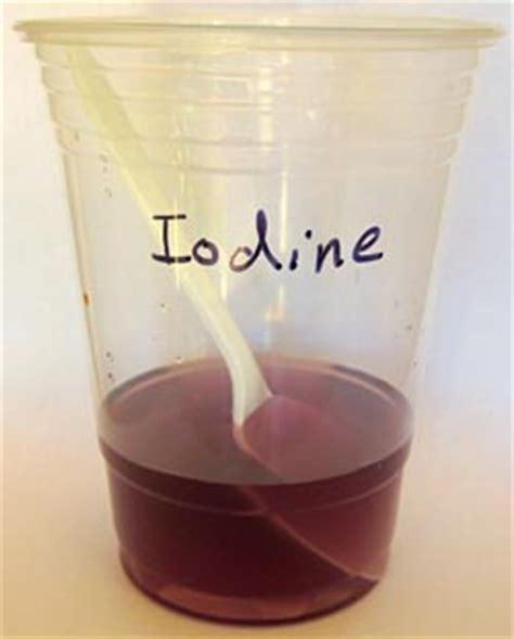 color of iodine determining iodide content of salt