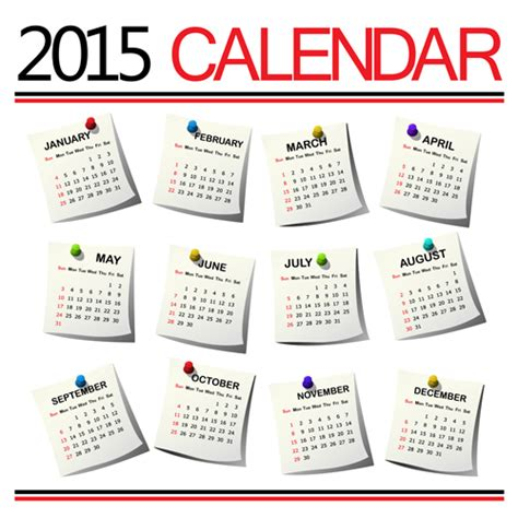 creative calendar 2015 vector design set 03 over