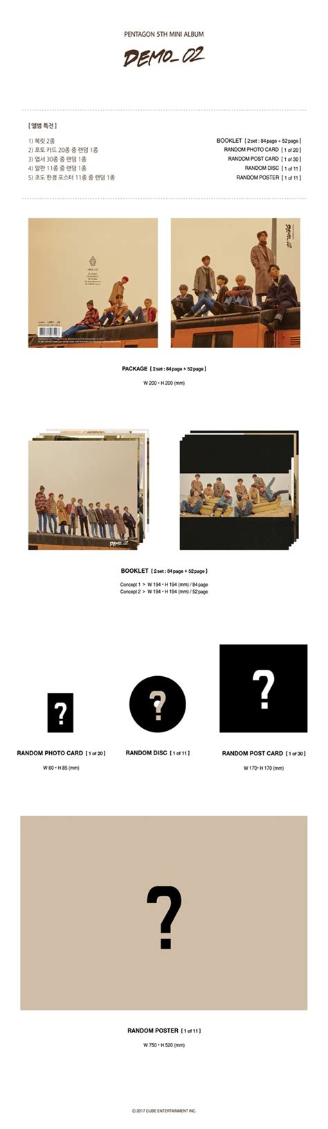 Pre Order Pentagon 4th Mini Album Demo01 pentagon 5th mini album demo 02 cd poster