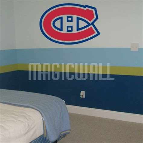 hockey wall stickers wall decals montreal canadiens hockey sport magic wall