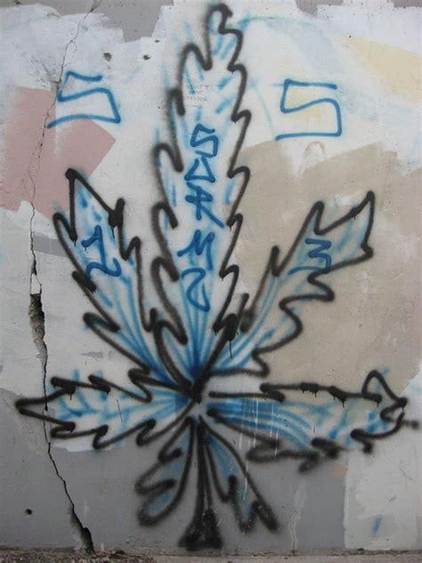 cannabis leaf street art flickr photo sharing