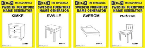 with the swedish furniture name generator at