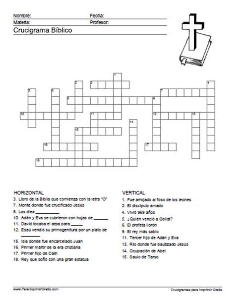 juegos bblicos iasd central cabimas crucigrama b 237 blico para imprimir gratis