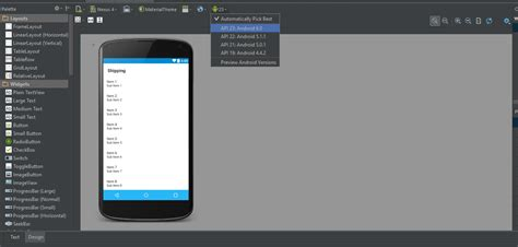 android studio layout version exception during layout rendering android n android studio