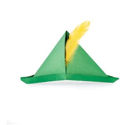 Origami Robin Hat - possible st paddy s day craft for storytime robin