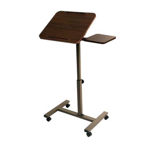 laptop desk on wheels seville classics walnut laptop desk with wheels web234
