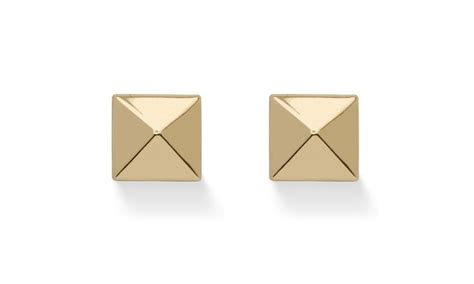 Gold Pyramid Studs up to 26 on pyramid stud earrings in holl