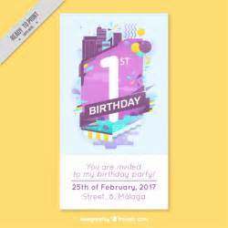 business birthday card modern business birthday card vector free