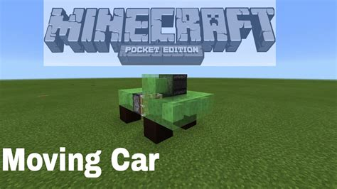minecraft car that moves how to make a moving car easy in minecraft pe youtube