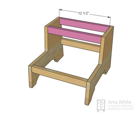 Easy Step Stool Plans by White Build A Vintage Step Stool Free And Easy Diy