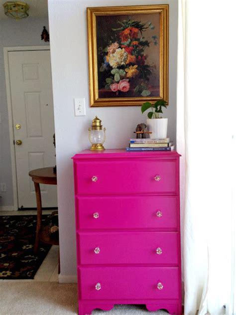 Fuschia Dresser by Weekend Tweaks Dresser Makeover Pink
