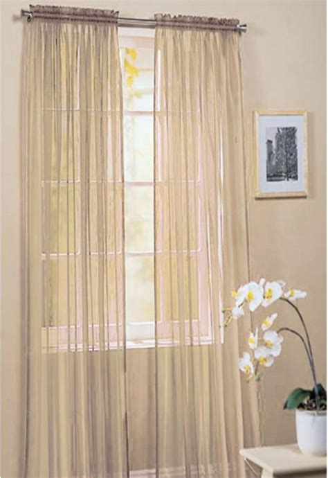 cream and gold voile curtains juliet rod pocket cream voile panel woodyatt curtains stock