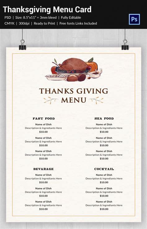 design thanksgiving menu cards template 30 thanksgiving freebies designs design trends