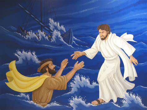 rock the boat jesus jesus walking on water and helping peter in the storm