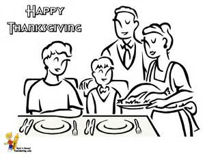 thanksgiving day coloring pictures black family colouring pages page 3