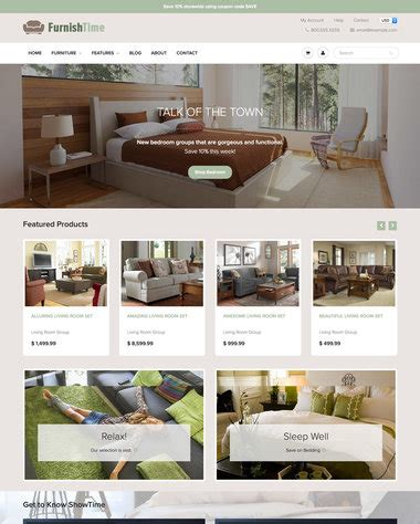 Chair Website Design Ideas Furniture Interior Design Ecommerce Website Templates Free And Premium Themes