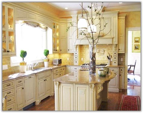 Kitchen Backsplash Ideas With Cream Cabinets tuscan kitchen white cabinets home design ideas