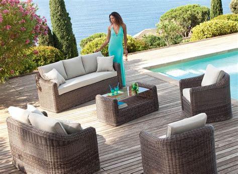 Salon De Jardin Resine Tressee Taupe Bora Bora Hesperide | Dream ...