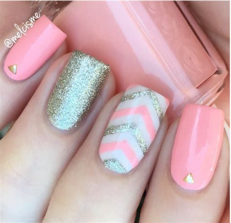 cute pattern nails 33 cute pink nail designs you must see silver nail