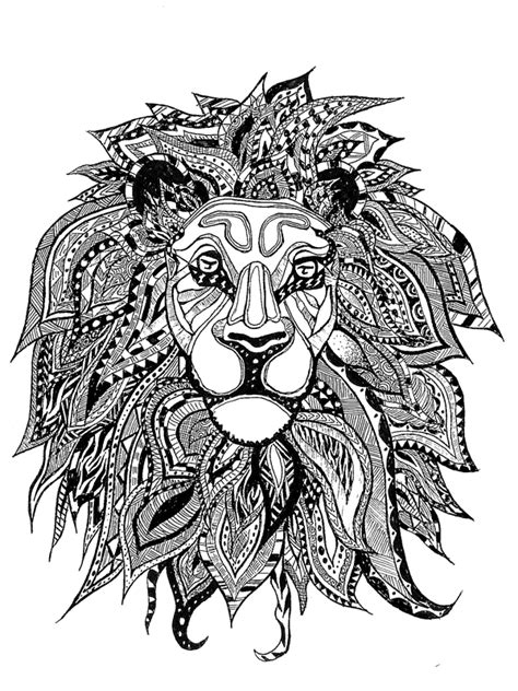 zentangle lion pattern zentangle animals score lion pictures